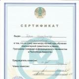 сертификат о компьютерной грамотности